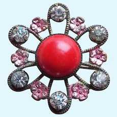 """Small Antique 1 1/8"""" Mini Brooch - For Doll or Lapel"""