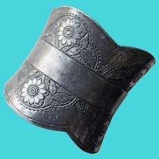 Antique Victorian Sunflower Silver Plated Napkin Ring