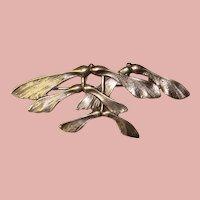 Fabulous JO MICHELS Sterling Maple Seed Design Vintage Brooch