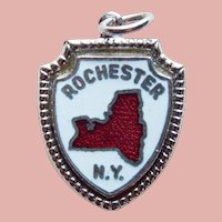 Sterling & Enamel ROCHESTER Vintage Charm - Souvenir of New York