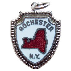 Sterling & Enamel ROCHESTER Vintage Charm - Souvenir of New York