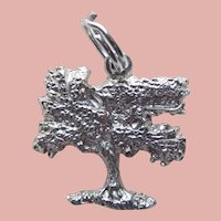 Sterling KAPOK TREE Vintage Estate Charm