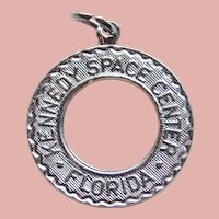 Sterling KENNEDY SPACE CENTER Vintage Charm - Souvenir of Florida