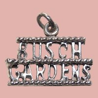 Sterling BUSCH GARDENS Vintage Charm - Souvenir of Florida or Virginia