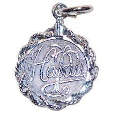 Sterling Hawaii Vintage Estate Charm - State Souvenir