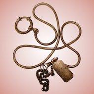 Fabulous STERLING Art Deco Long Watch Chain