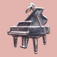 Sterling PIANO Signed Vintage Estate Charm