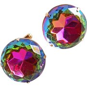 Huge WATERMELON Rhinestone Vintage Cufflinks