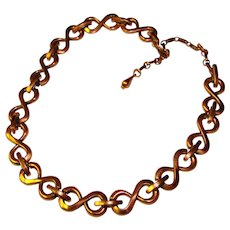 Vintage RENOIR Copper Infinity Link Vintage Necklace