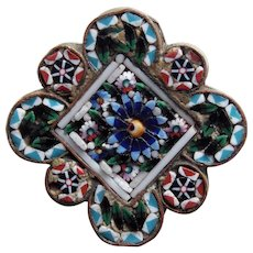 Fabulous Antique MICRO MOSAIC Micromosaic Brooch