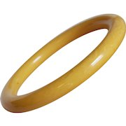 Gorgeous BAKELITE Egg Yolk Amber Manila Vintage Bangle Bracelet
