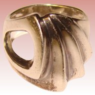 Awesome STERLING Modernist Design Signed Ring