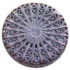 "Gorgeous Antique Filigree Button - 1 1/4"""