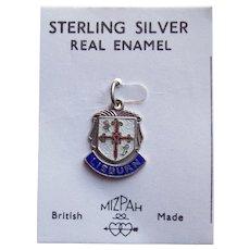 Sterling LISBURN Vintage Estate Charm - Souvenir of Northern Ireland - on Original Card