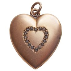 Antique Heart Locket - Signed W H & Co