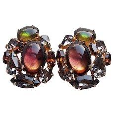 Fabulous ALICE CAVINESS Signed Vintage Rhinestone Earrings