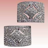Fabulous Art Deco Paste Rhinestone Shoe Buckles