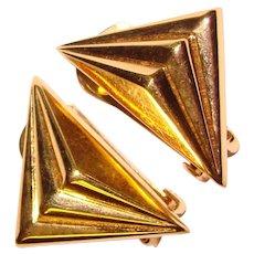 Gorgeous CHRISTIAN DIOR Vintage Clip Earrings