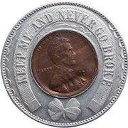 Lucky ENCASED 1917 PENNY Token - Souvenir Advertising - Never go Broke