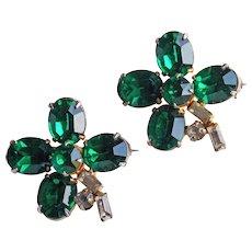 Awesome 4 LEAF CLOVER Shamrock Vintage Scatter Pin Brooch Set - St. Patrick's Day