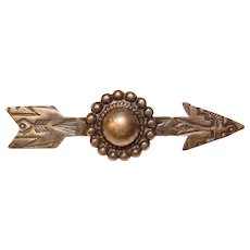 Gorgeous STERLING Southwest Arrow Design Vintage Brooch