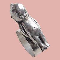 Kewpie Doll Vintage Figural Napkin Ring Holder - Silver Plated  - Rose O'Neill - Paye & Baker - Sheffield