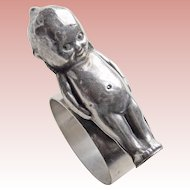 Kewpie Doll Vintage Figural Napkin Ring Holder - Silver Plated  - Rose O'Neill - Paye & Baker - Sheffield