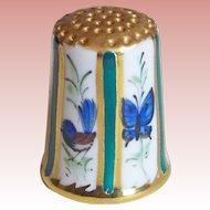 Vintage Bird Butterfly & Koala Porcelain Estate Thimble
