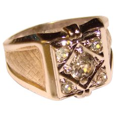 Awesome Sterling Vintage GAINSBORO Glass Stones Ring