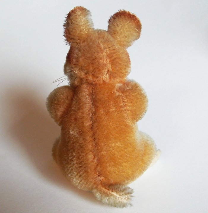 Adorable STEIFF Goldy Hamster with Bear Face Chest Tag - Smallest Size 4 or  10cm - Vintage