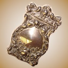 Fine Antique Baroque Design Sterling Match Safe