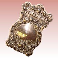 Fine Antique Baroque Design Sterling Match Safe