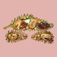 Fabulous HAR Dragon Tooth Brooch & Earrings Set