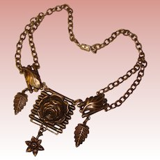 Fabulous FESTOON Design Vintage Estate Necklace