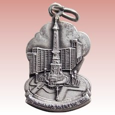 Sterling SOLDIERS AND SAILORS Monument Vintage Charm - Souvenir of Indianapolis Indiana - To Indiana's Silent Victors