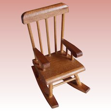 Miniature ROCKING CHAIR Wood Vintage Shackman - For Your Dollhouse