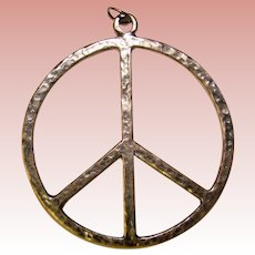 Awesome Sterling PEACE SIGN Vintage Pendant