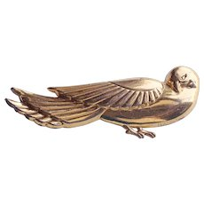 Fabulous STERLING CRAFT BY CORO Signed Vintage Bird Brooch