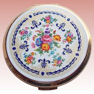 Gorgeous STRATTON England Vintage Powder Compact - Floral Design