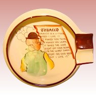 Awesome CARLTON WARE Tobacco Humor Vintage Ash Tray