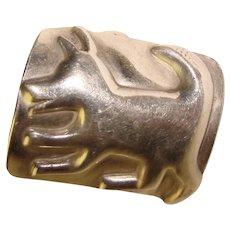 Awesome Sterling DOG DESIGN Vintage Ring