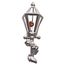 Lang Sterling Lamppost Street Light Vintage Brooch - Lamp Post