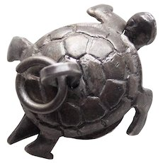 Sterling TURTLE Mechanical Vintage Estate Charm - Movable