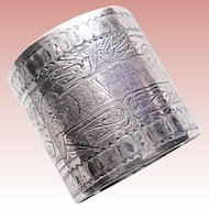 Victorian BIRDS Silverplated Souvenir Napkin Ring - Antique Napkin Holder