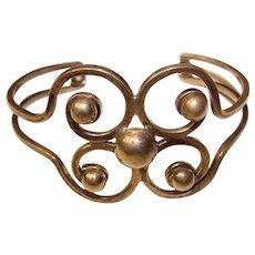 Fabulous STERLING Ornate Openwork Vintage Cuff Bracelet