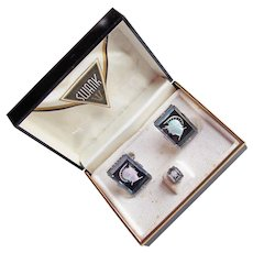 Awesome GLADIATOR Vintage Cufflinks - in Original Swank Box - Signed on Tie Tack