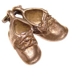Sterling BABY SHOES Vintage Charm