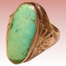 Fabulous STERLING & TURQUOISE Vintage Estate Ring