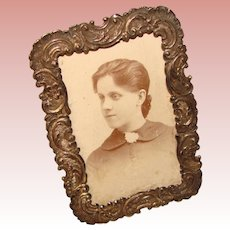 Gorgeous Antique Small Picture Frame With Photo 1895