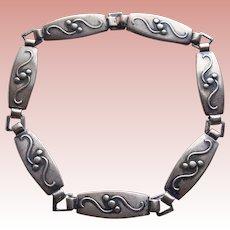 Gorgeous 830S Silver Vintage Scandinavian Bracelet - Signed C. Mic